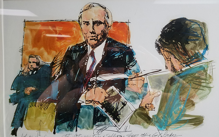 Courtroom drawing of the John Wayne Gacy Trial by Artist: John Downs, Sun-Times